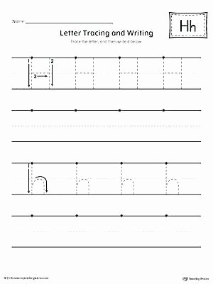 Letter H Tracing Worksheets toddler Letter Tracing Worksheets Alphabet Printing C and
