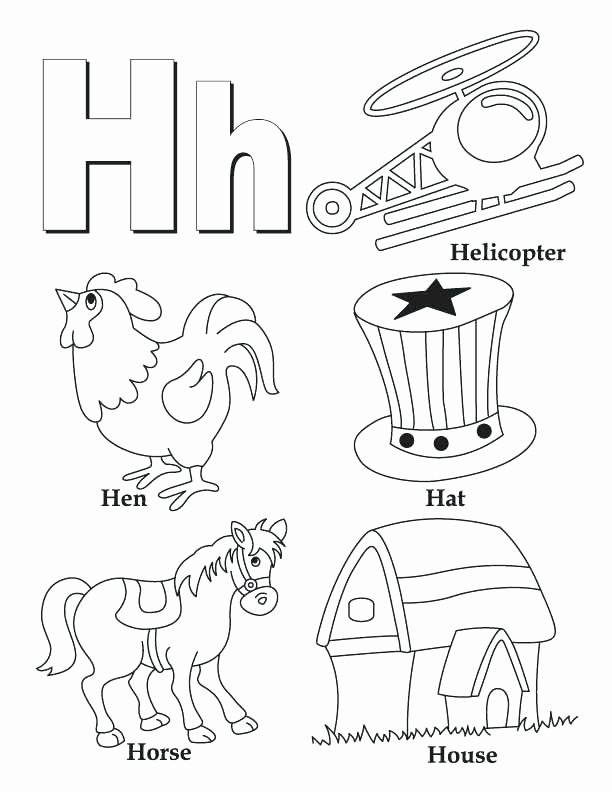 Letter H Worksheets for Kindergarten Download Free Educational Worksheets Letter H for Preschool