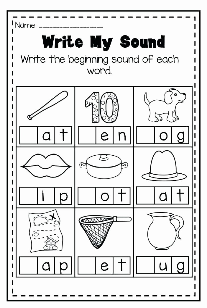 Letter H Worksheets for Kindergarten Free Beginning sounds Worksheets
