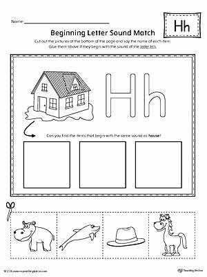 Letter H Worksheets for Kindergarten Letter Case Recognition Worksheet H sound Worksheets