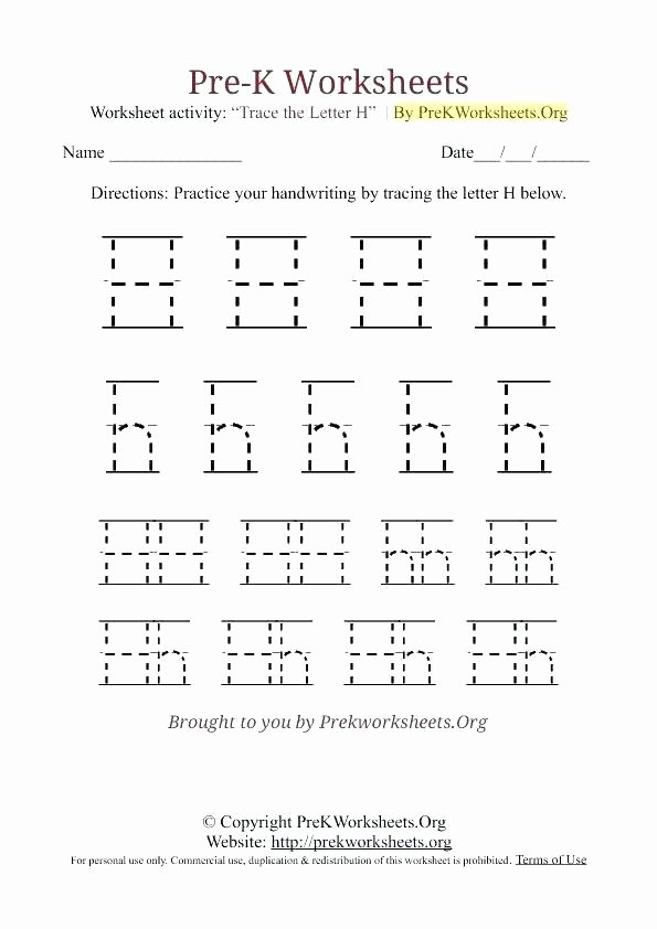 Letter H Worksheets for Kindergarten Letter H Tracing Printable Worksheet K Alphabet Worksheets