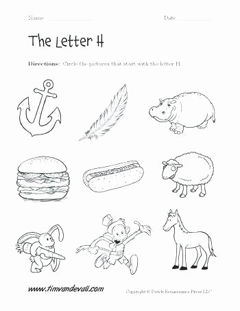 Letter H Worksheets for Kindergarten Worksheets for 4 Year Olds Letter W Kindergarten P Free