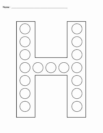Letter H Worksheets for Preschool Free Printable Letter C Worksheets