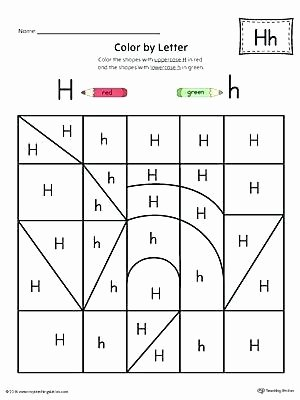 Letter H Worksheets for Preschool Halloween Color by Letter – Thishouseiscooking