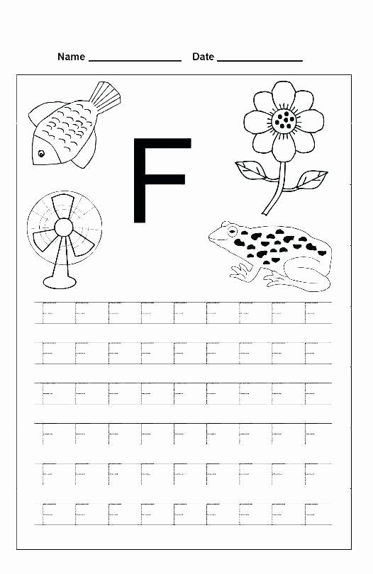 Letter H Worksheets for Preschool Letter F Worksheets for Kindergarten