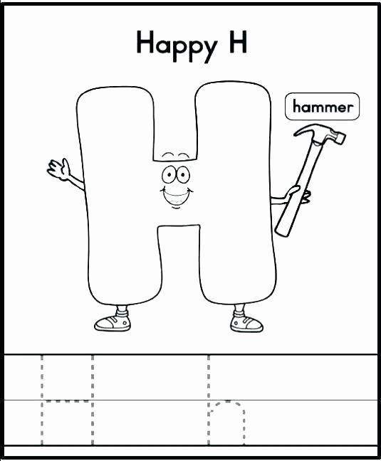 Letter H Worksheets for Preschool Letter H Printable Worksheets