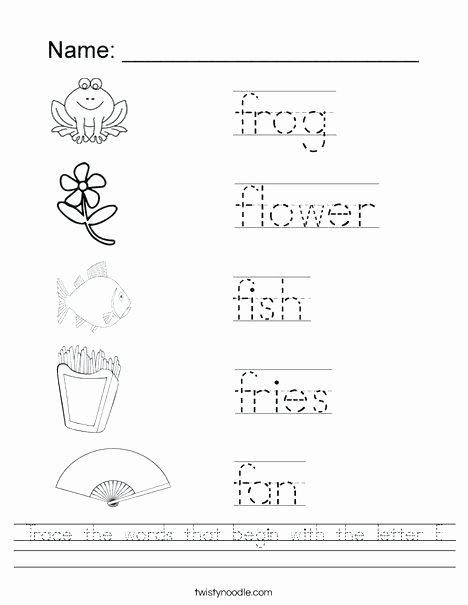 Letter H Worksheets for Preschoolers Letter F Worksheets for Kindergarten