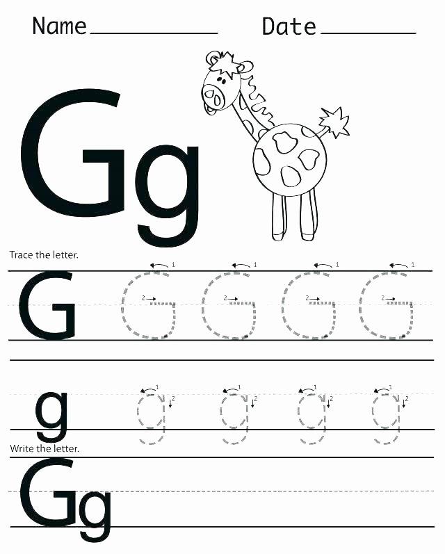 Letter H Worksheets for Preschoolers Letter G Tracing Worksheets Preschool