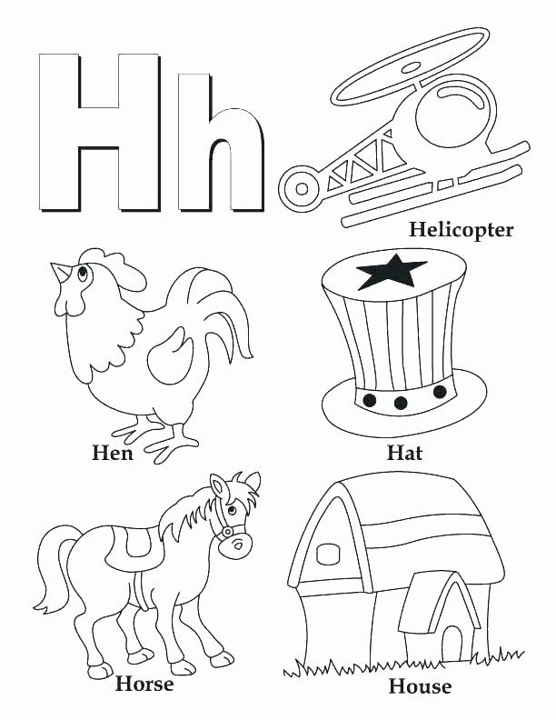 Letter H Worksheets for Preschoolers Letter H Printable Worksheets