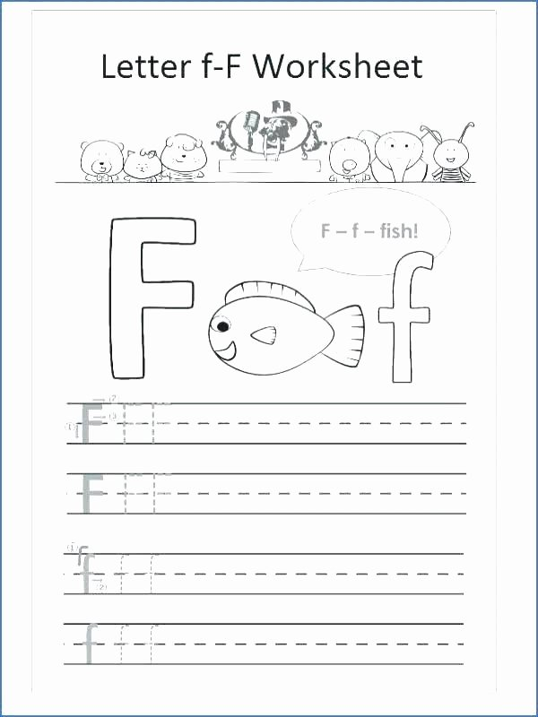 Letter H Worksheets Free Letter F Worksheets for Kindergarten