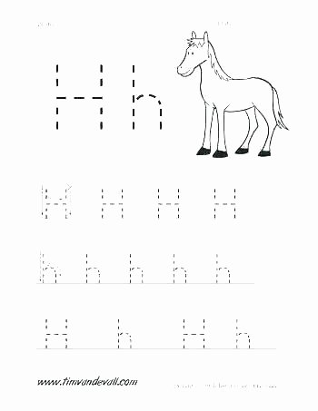 Letter H Worksheets Free Letter H Tracing Worksheets
