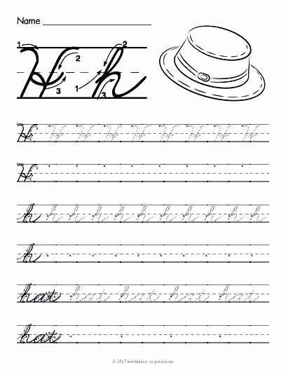 Letter H Worksheets Free original Lowercase Letter Worksheets with Guided Lessons 3