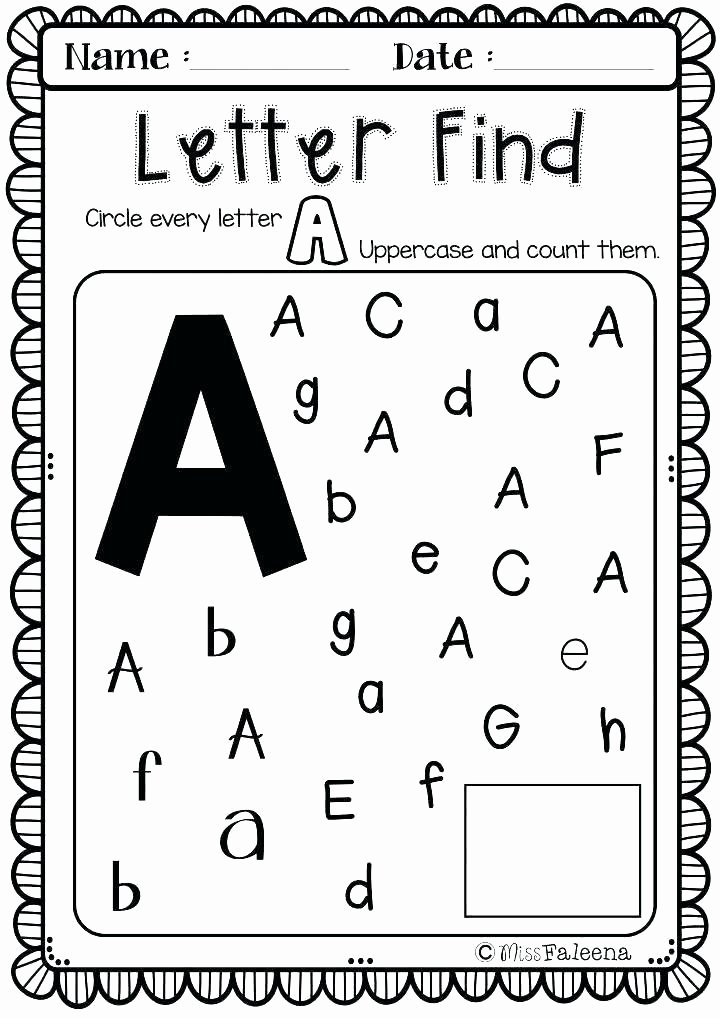 Letter H Worksheets Preschool Alphabet Worksheets for Pre K