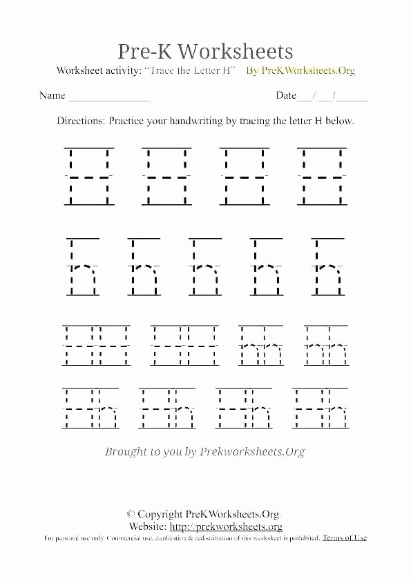 Letter H Worksheets Preschool Free Printable Letter H Tracing Worksheets Letter H