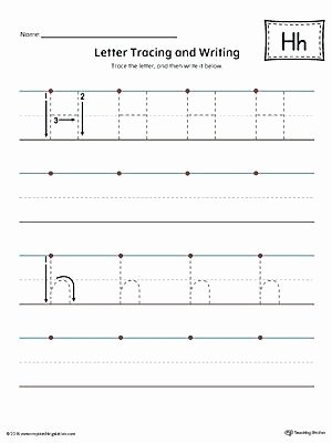 Letter H Worksheets Preschool Letter H Tracing Worksheets