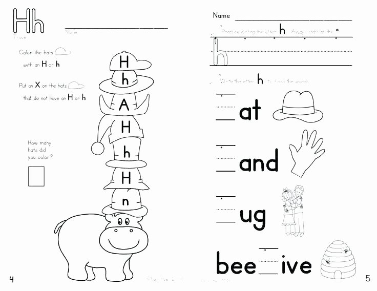 Letter H Worksheets Preschool Letter H Worksheets