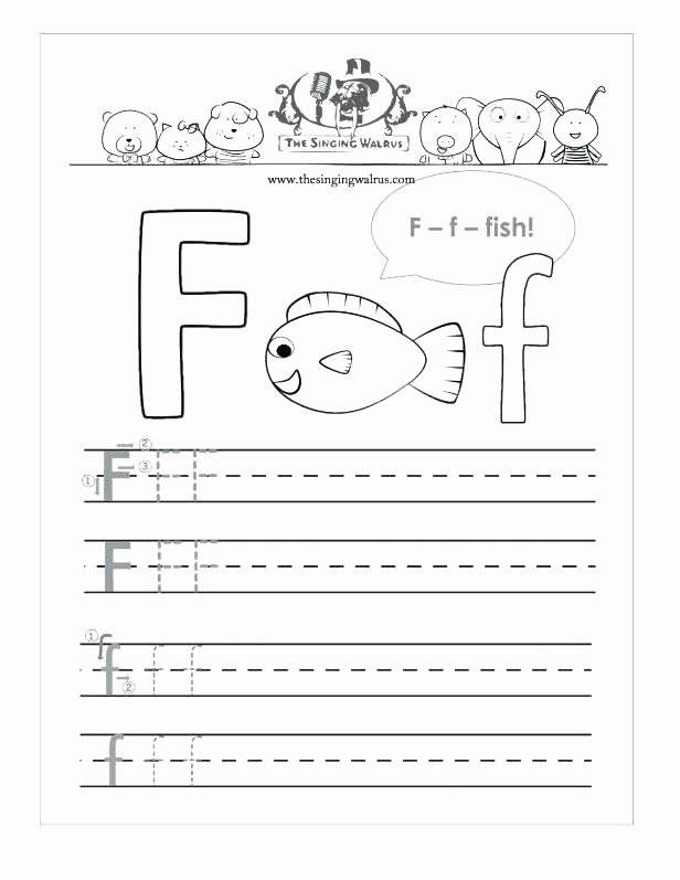Letter H Worksheets Preschool Writing Uppercase Letter F 1 Page Worksheet Letter F