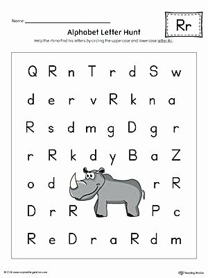 Letter Hunt Worksheet Letter formation Worksheets with Arrows