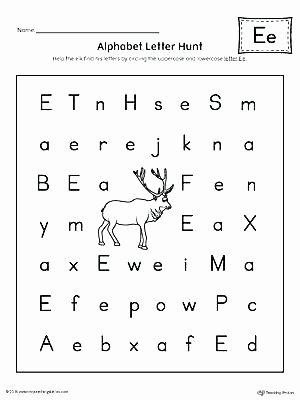 Letter Hunt Worksheet Preschool Writing Worksheets Free Printable