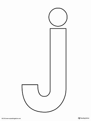 Letter J Worksheets Awesome Lowercase Letter J Template Printable