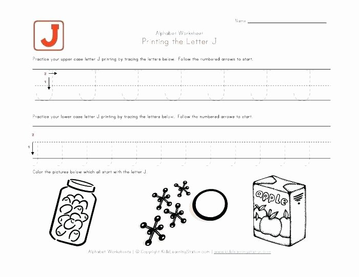 Letter J Worksheets Lovely Alphabet Worksheets for Preschoolers View and Print Your