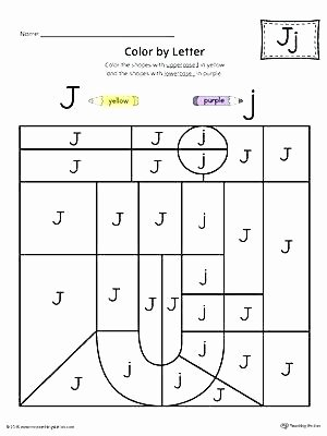 Letter J Worksheets Unique Writing Lowercase Letters Worksheets Letter J Color by