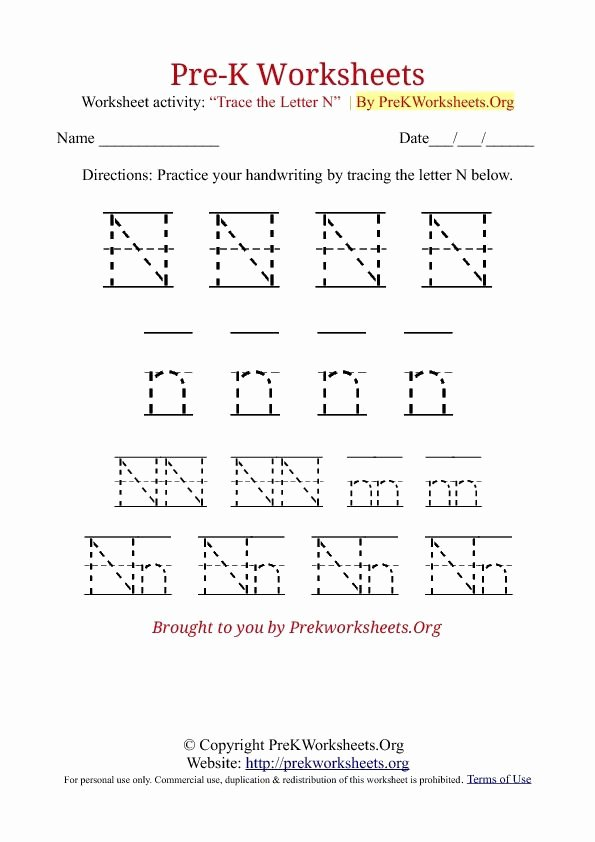 Letter K Tracing Worksheets Preschool Pre K Tracing Worksheets they Really are Free