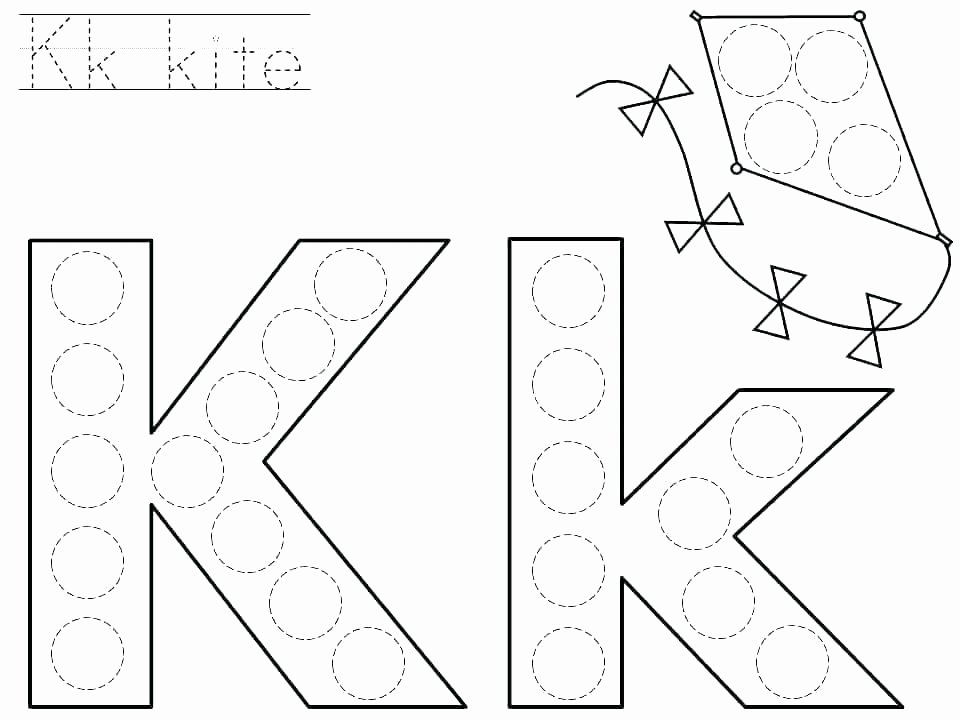 Letter K Tracing Worksheets Preschool Printable Alphabet Worksheets for Pre K