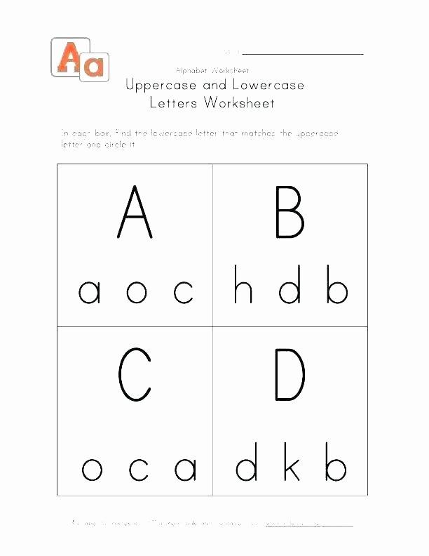 Letter M Worksheets for Preschoolers Alphabet Matching Worksheets for Kindergarten Picture Letter