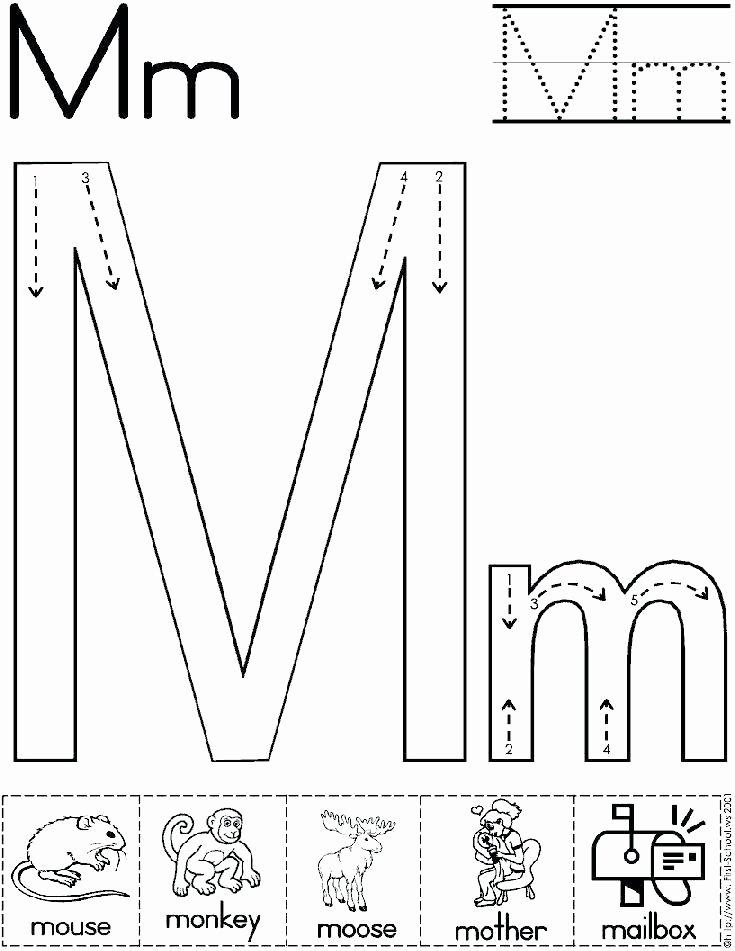 Letter M Worksheets for Preschoolers M sound Worksheets Color Jolly Phonics Alphabet Letter Pdf