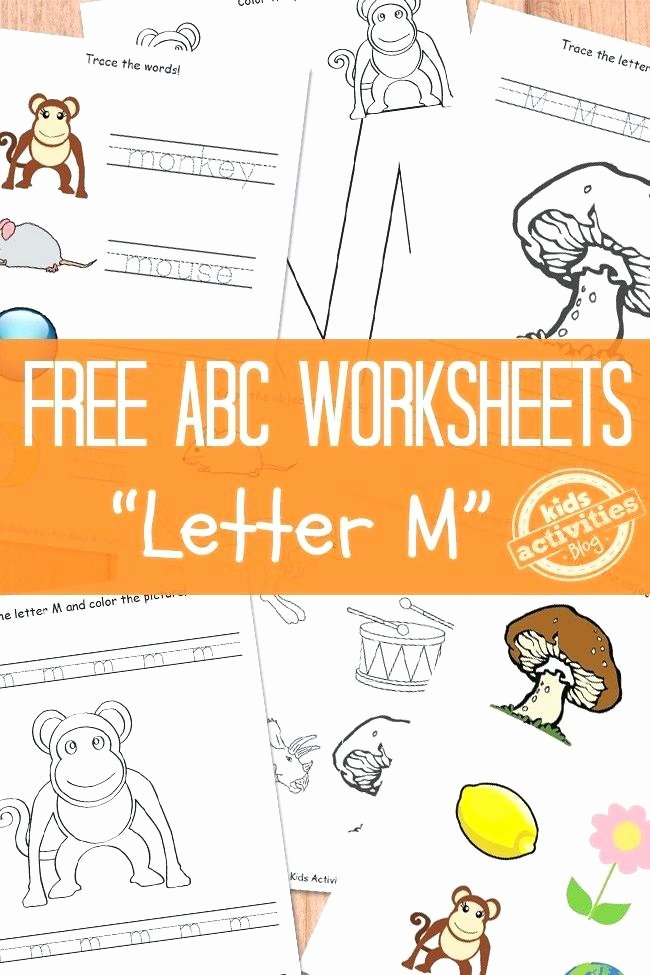 Letter M Worksheets for toddlers Letter M Tracing and Writing Printable Worksheet Color Magic