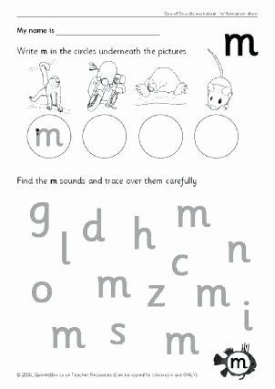 Letter M Worksheets for toddlers Words Starting with Letter M Resources Preschool Letters M