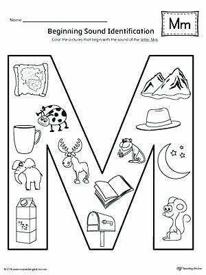 Letter M Worksheets Kindergarten Beginning sound the Letter M Worksheet Worksheets Pdf