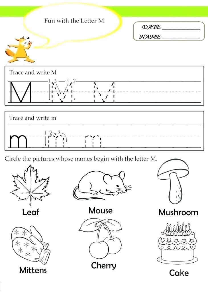 Letter M Worksheets Kindergarten Free Printable Preschool Worksheets Free Printable Preschool