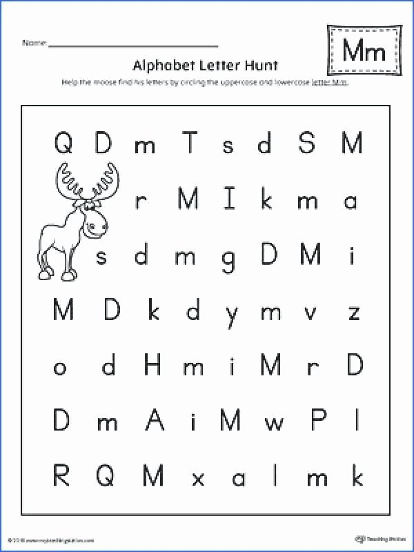 Letter M Worksheets Kindergarten Letter Tracing Worksheets for Kindergarten Pdf