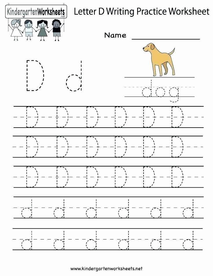 Letter M Worksheets Kindergarten Tracing Letter D Free Tracing Letter D Worksheet Free Letter