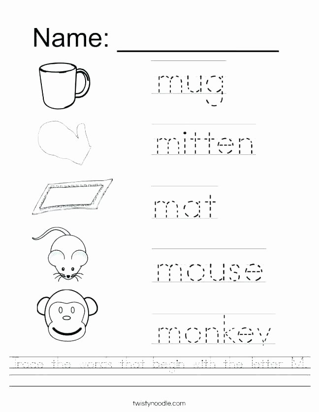 Letter M Worksheets Preschool Letter M Worksheets Learning Pack F Phonics Fun with Mama