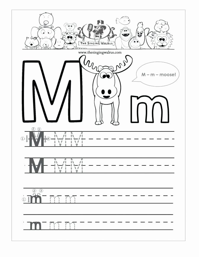 Letter M Worksheets Preschool Tracing Letter M Worksheets Kindergarten Free sound for O E