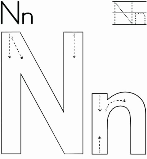Letter N Preschool Worksheets Letter N Words Free Alphabet Tracing Worksheet B sound