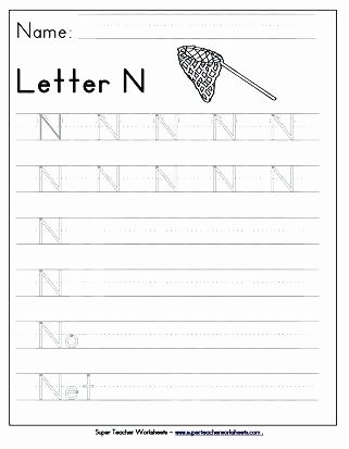 Letter N Preschool Worksheets Letter N Worksheet for Preschoolers Small Size Preschool