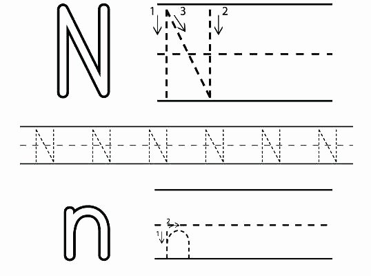 Letter N Preschool Worksheets Letter N Worksheets Printable Letter N Worksheets for