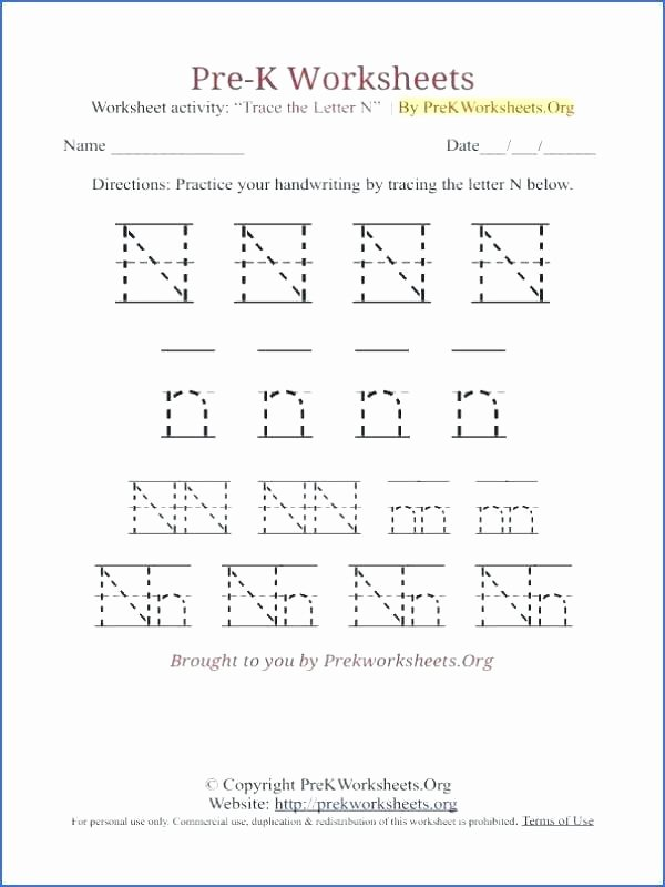 Letter N Tracing Page Lovely Trace Letter N Printable Worksheets Free Tracing Alphabet