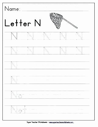 Letter N Tracing Worksheets Preschool Letter H Tracing Worksheets