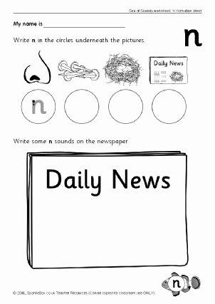 Letter N Worksheets for Kindergarten Ks1 Alphabet Worksheets Ks1 Phonics Worksheets Alphabet