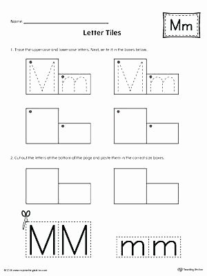 Letter N Worksheets for Kindergarten Letter M Tracing and Writing Tiles Printable Missing