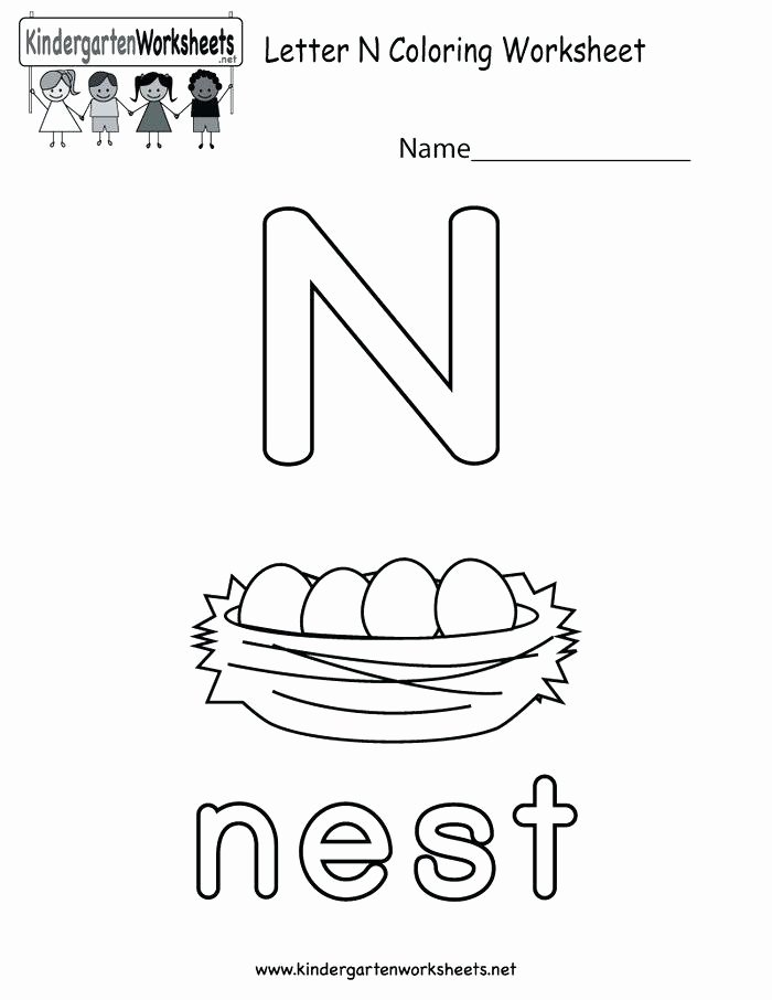 Letter N Worksheets for Kindergarten Letter N Preschool Worksheets – Openlayers