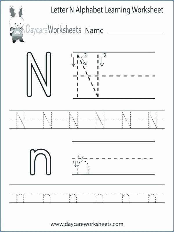 Letter N Worksheets for Kindergarten Preschool Letter N Worksheet Printable Worksheets Trace B