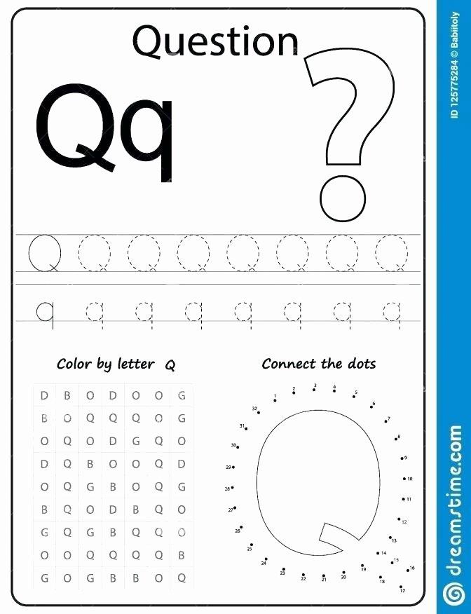 Letter O Worksheet for Kindergarten Letter Q Worksheets for Kindergarten