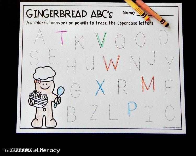 Letter O Worksheet for Kindergarten Letter Tracing Gingerbread Printables for Pre K and Kindergarten