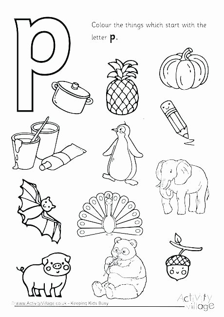 Letter P Preschool Worksheets Color Tracing Worksheets Letter C Writing and Coloring